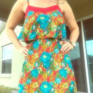 Floral layered sun dress